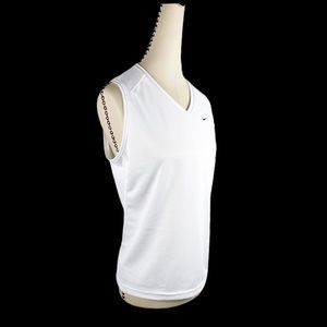 Nike Tank Top Active White Mesh Golf Tennis Vneck